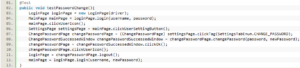 Sample code - Password change